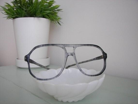 Vintage Gray with Black Swirl Designer Eye Glass Frames