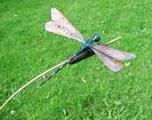 Dragonfly on Cattail garden sculpture