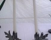 Oak Leaf Candle Holder Set