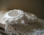 Candle holders, for 1 pair of tea light candles - shabby chic, French country, Paris apartment, beach house