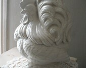 RESERVED - Cookie jar, French rooster, shabby chic, French country, kitchen decor, cookie keeper
