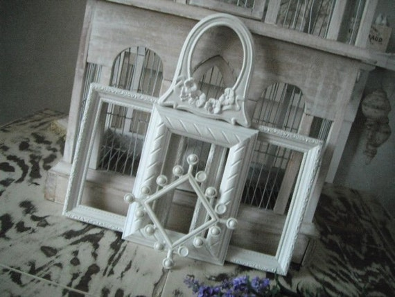 Picture frames, photo frames, wall display, chic - 5 piece shabby road