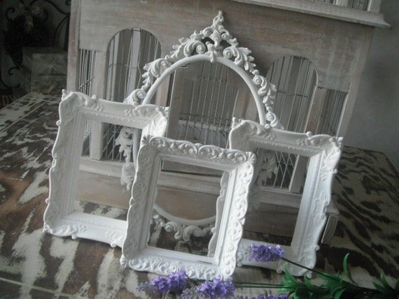 shabby chic french country picture frames photo frames white picture frames
