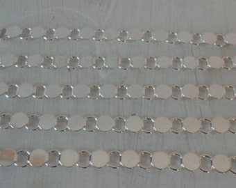 5 Sterling Plated Disk and Loop Bracelets with Glueable Pads
