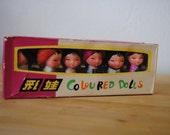 Vintage Pencil Sharpeners Coloured Dolls Six Piece Set