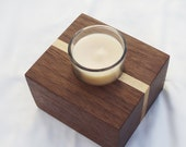 Wood Modern Candle Holder Walnut