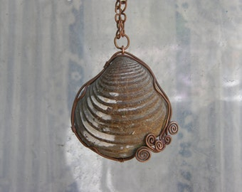 La Concha Vieja Necklace / Oyster Shell Fossil Necklace / Nautical Jewelry / Ocean Treasure / Handmade Jewelry / Beach Necklace