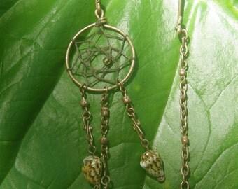 Spiral Shell Dream Catcher earrings
