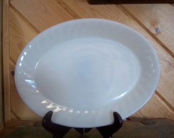 Vintage Fire King White Serving Tray