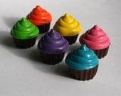 Cupcake Mini Crayons - Set of 6