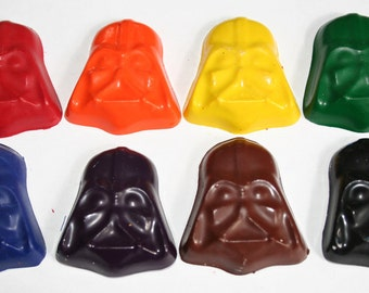 Lord Black Helmet Mini Crayons - Set of 8