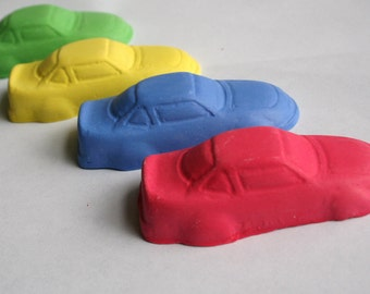 Car Sidewalk Chalk - Set of 4 - Great for a car and Hot Wheels party