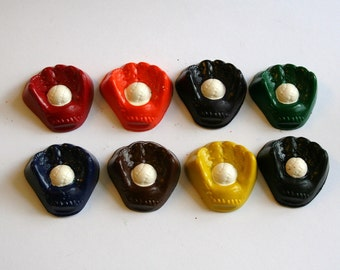 Baseball Glove and Ball Mini Crayons - Set of 8