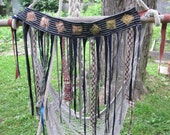 SALE Tattered pixie skirt / fairy skirt and hooping belt in batik cotton and silk