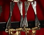 Steampunk Metal Trapeze Earrings