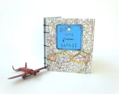 RESERVED FOR DANIKA Travel Journal No. 1 - Vintage Belgium Bicycle Plate and Map Limited Series-handmade