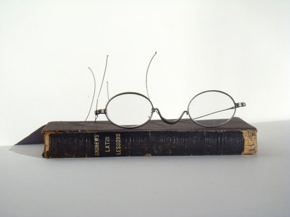 Home Decor Display  - Vintage Eyewear and Book -