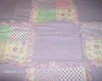 Pastels and Lavender Rag Quilt