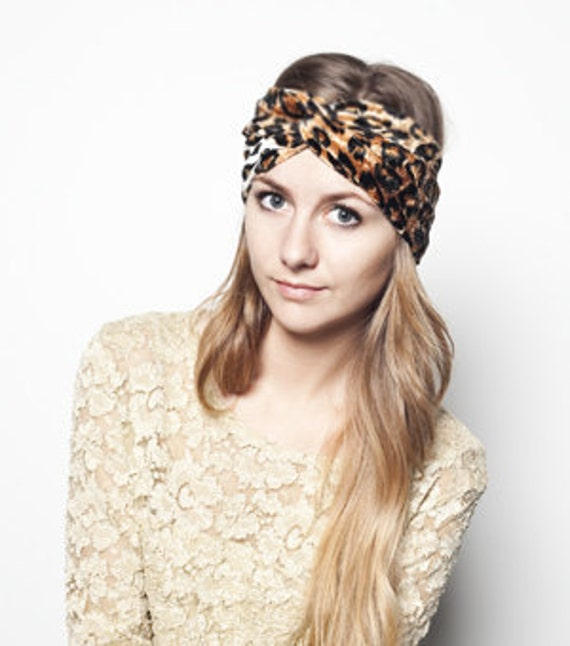 Animal Print  Velvet Stretch Turband Turban Headband