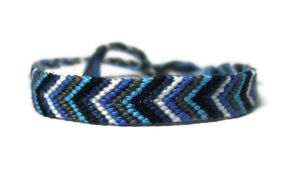blue chevron arrow friendship bracelet