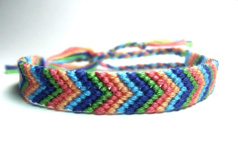 Chevron bracelet - Colorful Chevron Friendship Bracelet