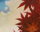 """Landscape Modern """"Maroon Maple""""  12"""" x 12"""""""