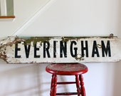 Double sided Antique advertisement sign