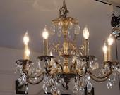 Reserved for Arlene - vintage crystal chandelier