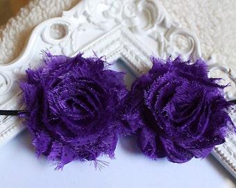 Purple and black flower headband - flower headband - baby headband - newborn headband