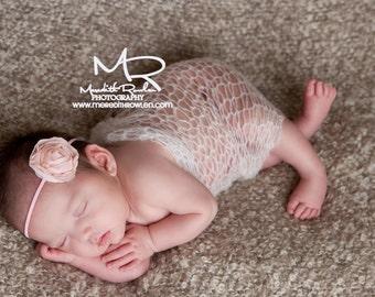 Light pink flower headband - baby flower headband