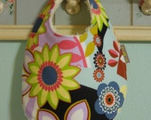 1 BIB - Boutique Baby Girl Gift - Super Soft Fluff Backing - Ready To Ship - Mod Flowers