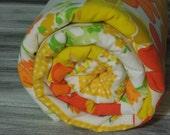 Boutique Baby Blanket Soft and Fluffy - Vintage Kandy Vintage Sheet Blanket - Citrus Sunshine