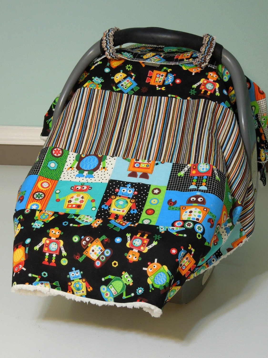 Baby Boy Car Seat Cover Me Canopy Blanket