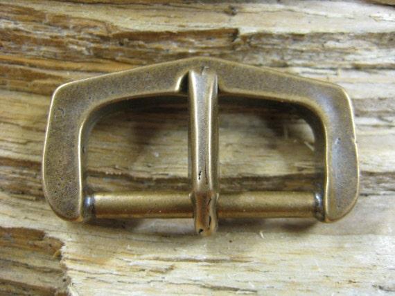 cast bronze buckle with cast bronze pin