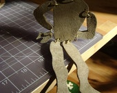 Zombie Mummy Marionette Leather Upcycled Eco Groovy Gift
