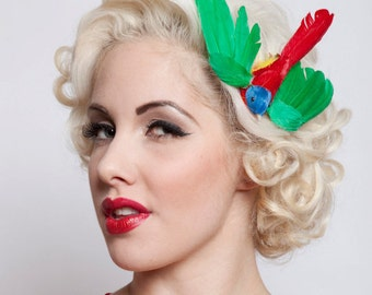 Now, Voyager Flying Bird Hair Clip-Vibrant Green Mix