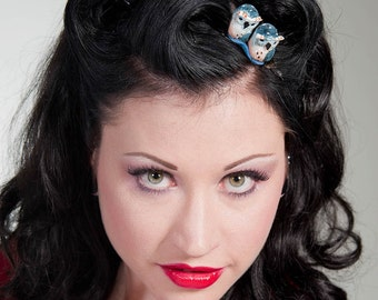 Now, Voyager Owl Duo Hair Clip-Purple