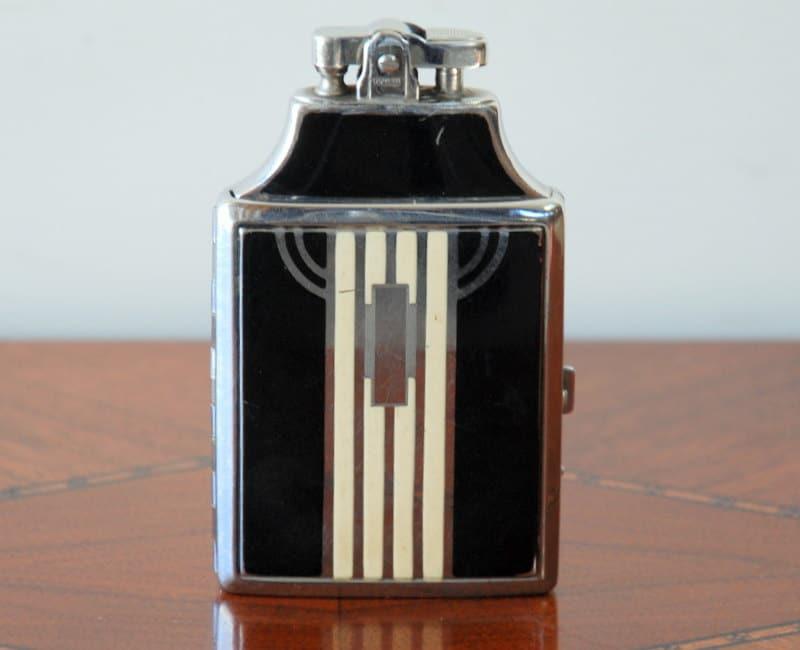 Art Deco Ronson Cigarette Case And Lighter