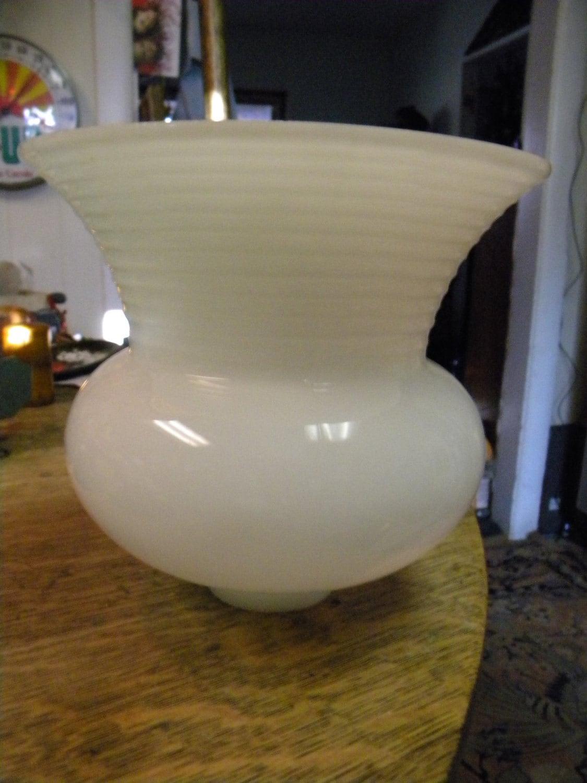 nice vintage white milk type glass torchiere floor lamp shade. Black Bedroom Furniture Sets. Home Design Ideas
