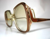 Vintage 1980s Bold Statement Design Frame Sunglasses