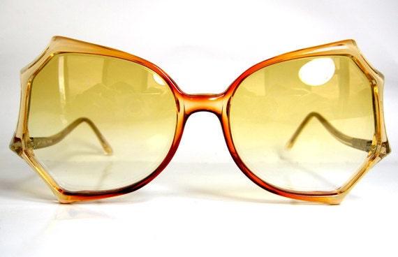 80's Vintage Spider Web Shape Sunglasses