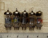 Antique vintage radio t.v. glass vacuum tubes for pendants necklaces jewelry industrial mixed media electronic Steampunk Art Supplies 1395