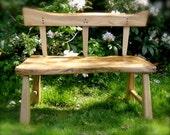 2 Seater Rustic Garden Bench