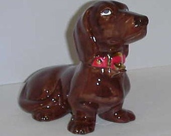 Dark Brown Dachshound Cookie/Candy Jar