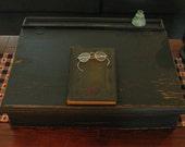 Antique Primitive School Desk Top-CPLG, ab4b, wrr, OFG