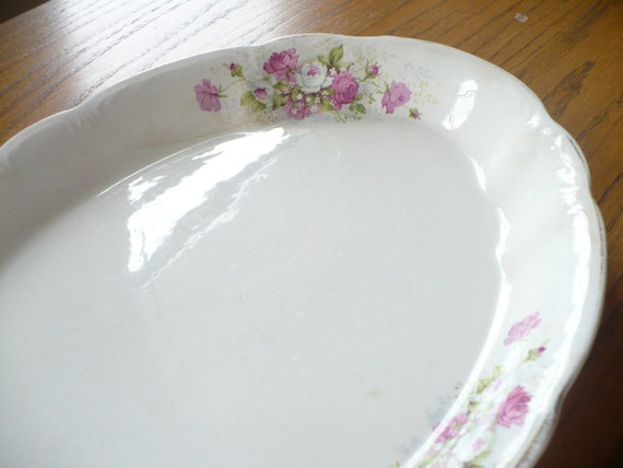Shabby Serving Dish with beautiful sings of use/distress/and age LOVELY