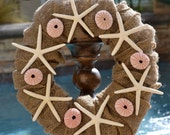 The Cottage Cove Burlap & Shell Wreath