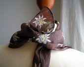 RESERVED for SARAH, Edelweiss, vintage scarf
