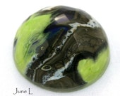 Handcrafted Faceted Glass Cabochon - The Look of Stone - June L