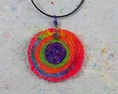 Fiber Art Pendant